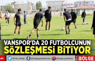 Vanspor'da 20 futbolcunun sözleşmesi bitiyor