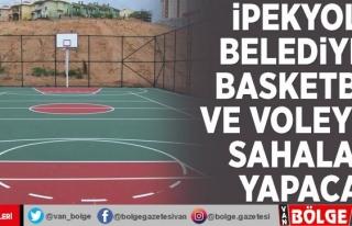 İpekyolu Belediyesi basketbol ve voleybol sahaları...
