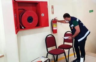Yangın güvenliği almak isteyen yerler kontrol ediliyor