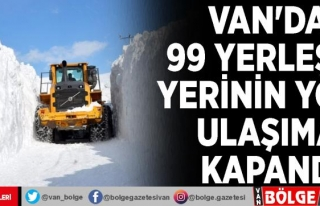 Van'da 99 yerleşim yerinin yolu ulaşıma kapandı