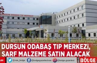 Van YYÜ Dursun Odabaş Tıp Merkezi, sarf malzeme...