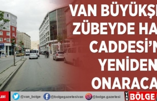 Van Büyükşehir Zübeyde Hanım Caddesi'ni...
