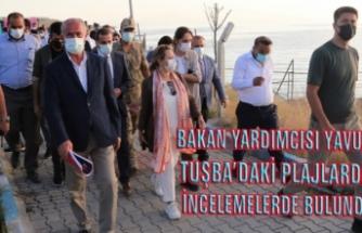Yavuz, Tuşba'daki halk plajlarında incelemelerde bulundu