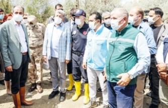 DSİ Genel Müdür Yardımcısı Fıratoğlu, sel bölgesinde incelemelerde bulundu