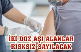 İki doz aşı olanlar temaslı olsalar da risksiz sayılacak
