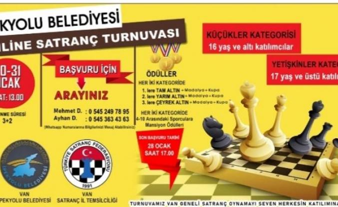 Ipekyolu'nda online satranç turnuvası...