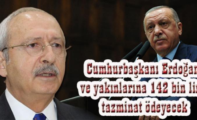 Kılıçdaroğlu, 142 bin lira tazminat ödeyecek