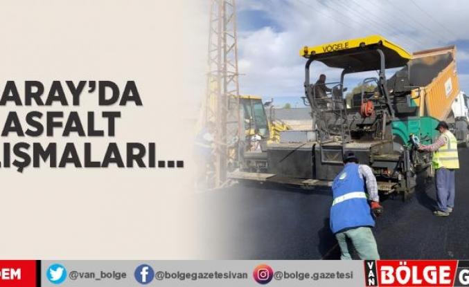 Saray'da asfalt çalışmaları...