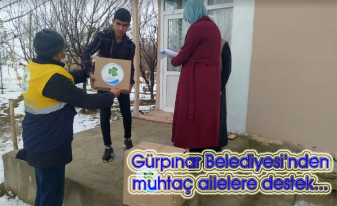 Gürpınar'daki mağdur ailelere belediye şefkati…
