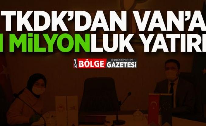 TKDK'DAN VAN'A 91 MİLYON LİRALIK YATIRIM