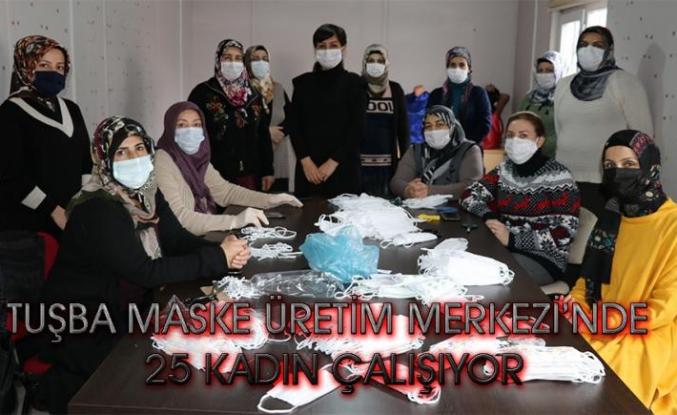 Tuşbalı kadınlar maske üretimiyle topluma fayda sağlıyor